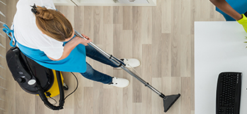 Vacuuming, steam cleaning, Mopping